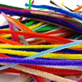 Bastelbär Pfeifenputzer / Chenilledraht , 200 Pfeiffenreiniger in verschiedenen Farben