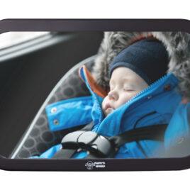 Fluffy's World Spiegel Auto Baby – Autospiegel Baby – Bruchsicherer Rückspiegel Baby – Babyspiegel Auto – Rücksitzspiegel baby XXL – groß